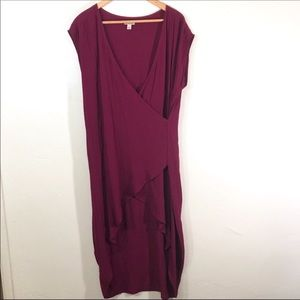 Holding horses burgundy hi low tunic